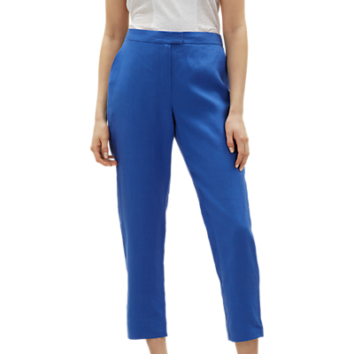 Jaeger 7/8 Linen Trousers, Blue