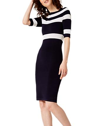 Damsel in a Dress Tali Knitted Dress, Navy/Ivory