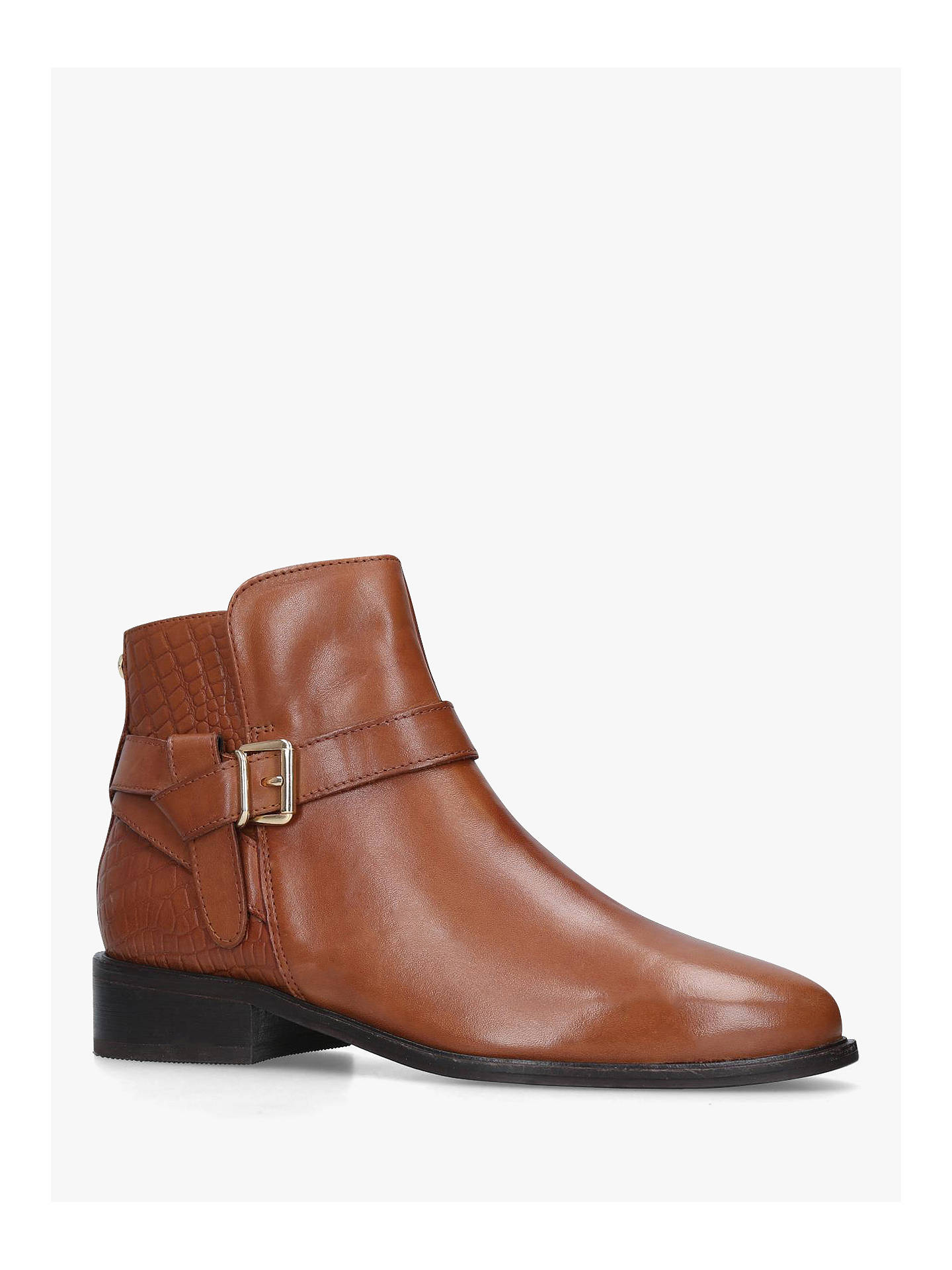 BuyCarvela Twist Buckle Detail Leather Chelsea Boots, Tan, 3 Online at johnlewis.com