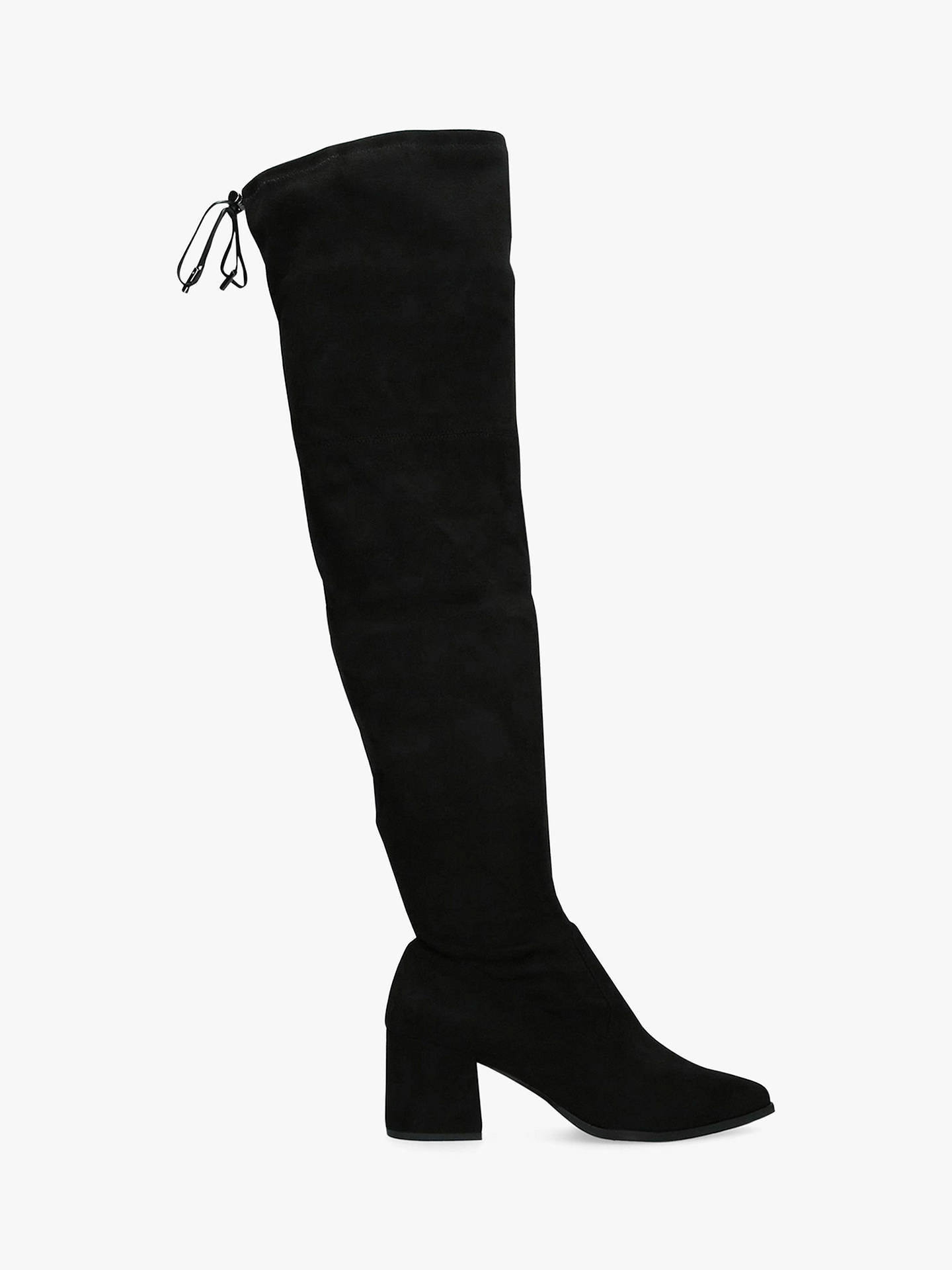 Buy Carvela Wild Block Heel Knee High Boots, Black, 4 Online at johnlewis.com