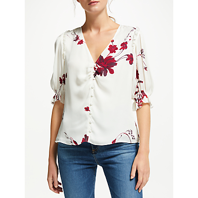 Joie Anevy Silk Blouse, White