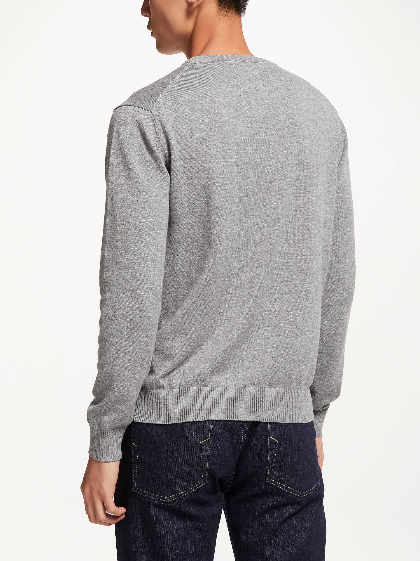 BuyJoules Earl Crew Neck Jumper, Grey Marl, L Online at johnlewis.com