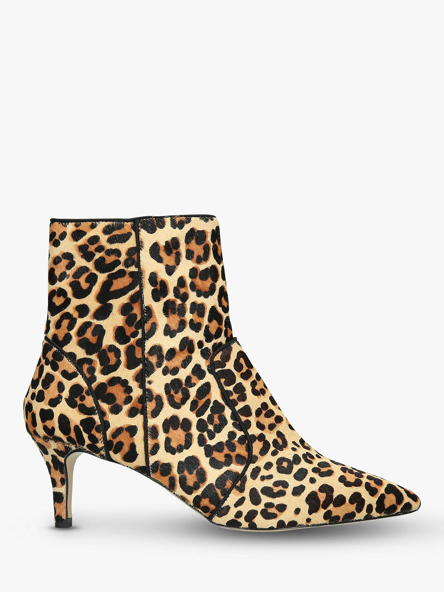 BuyCarvela Sugar Pony Leopard Print Stiletto Pointed Toe Ankle Boots, Brown, 3 Online at johnlewis.com