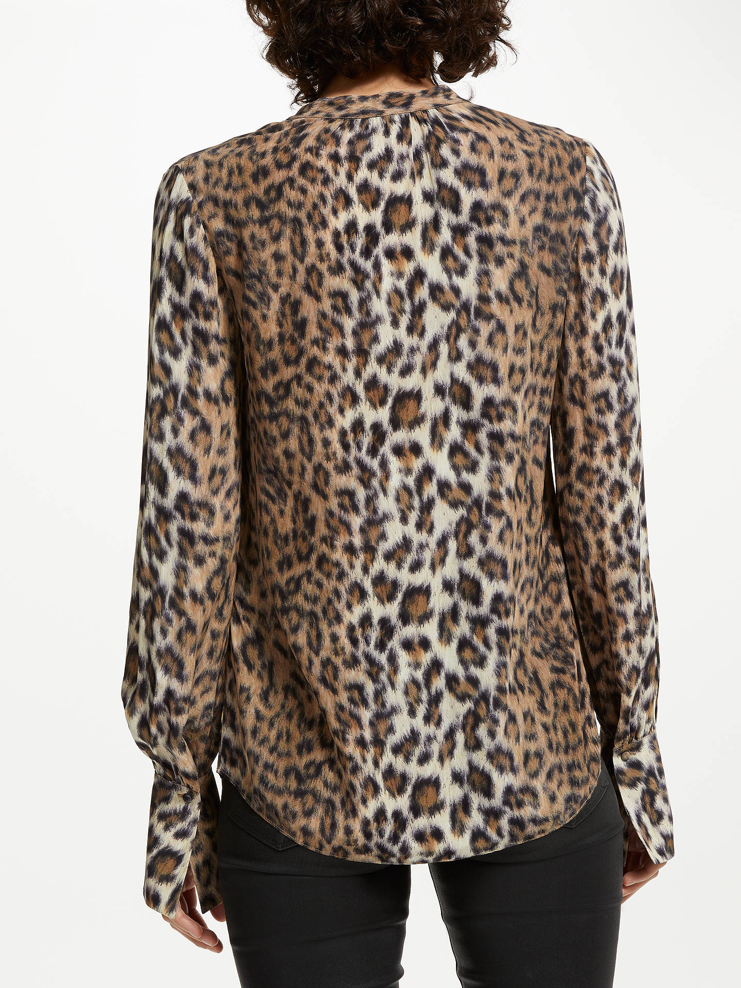 70158fb185e9a2 ... Buy Joie Tariana Animal Print Blouse, Brown, S Online at johnlewis.com  ...