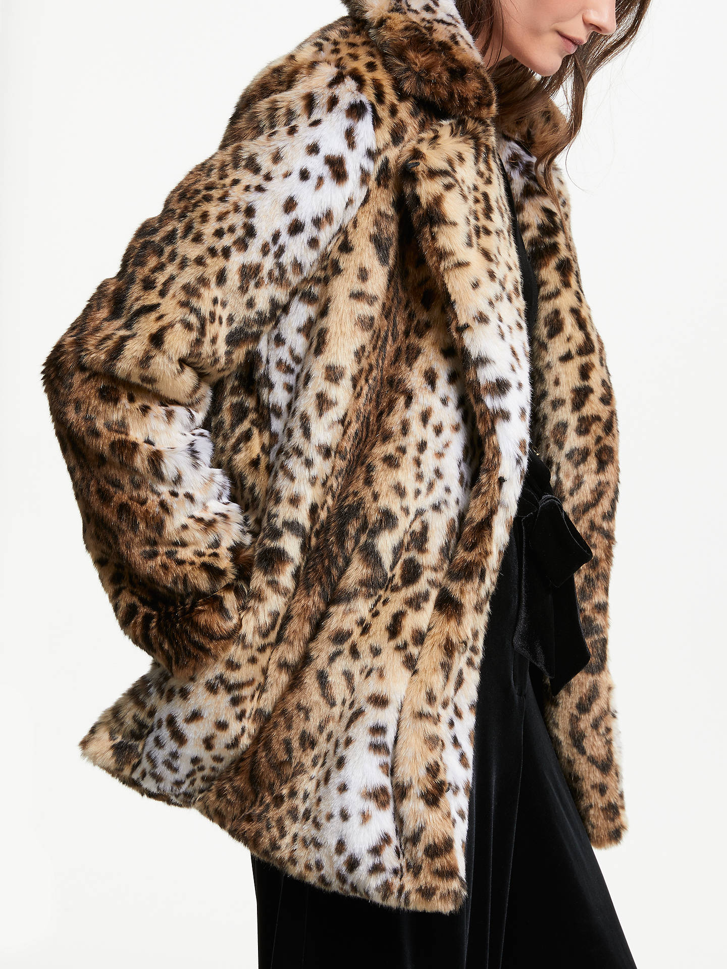 BuySomerset by Alice Temperley Leopard Faux Fur Coat, Multi, 14 Online at johnlewis.com
