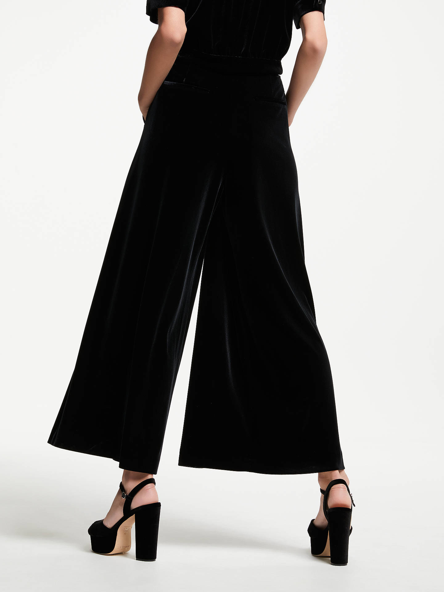 Buy Somerset by Alice Temperley Velvet Trousers, Black, 18 Online at johnlewis.com