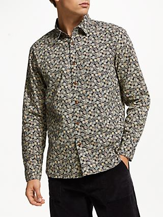 JOHN LEWIS & Co. Slub Yarn Tile Print Shirt, Blue