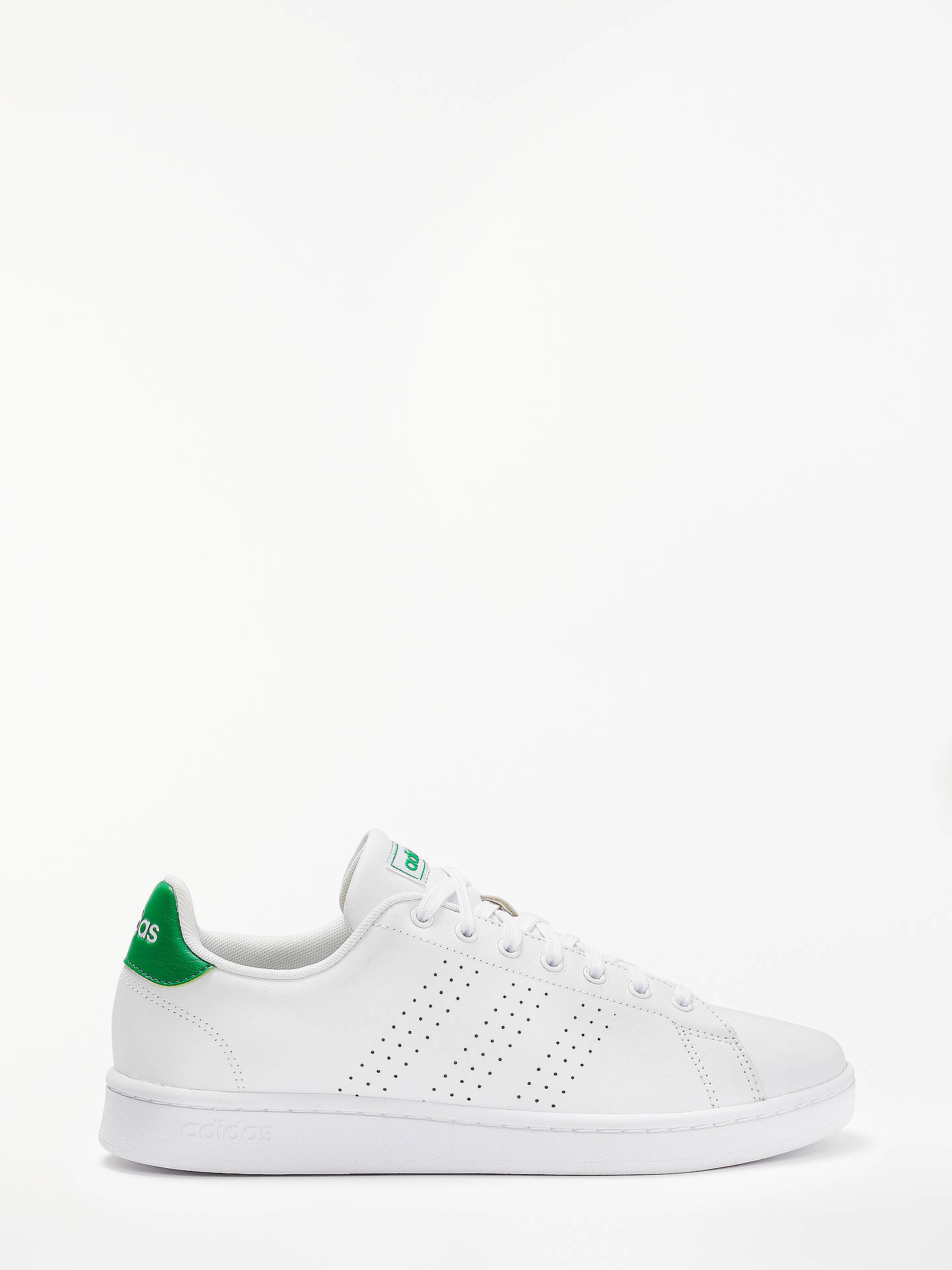 Buy adidas Advantage Men's Trainers, FTWR White/Green, 11 Online at johnlewis.com