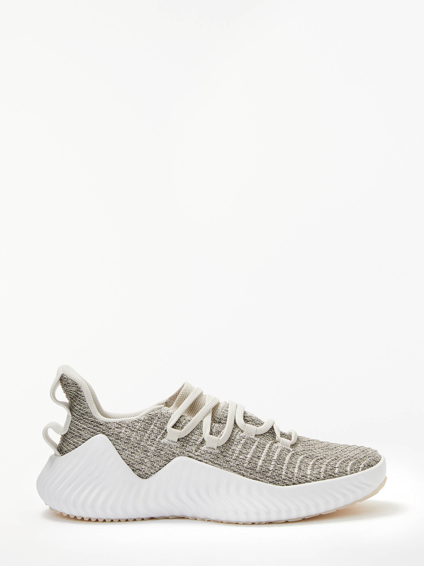adidas AlphaBounce Women's Trainers, Raw White/Grey at John ...