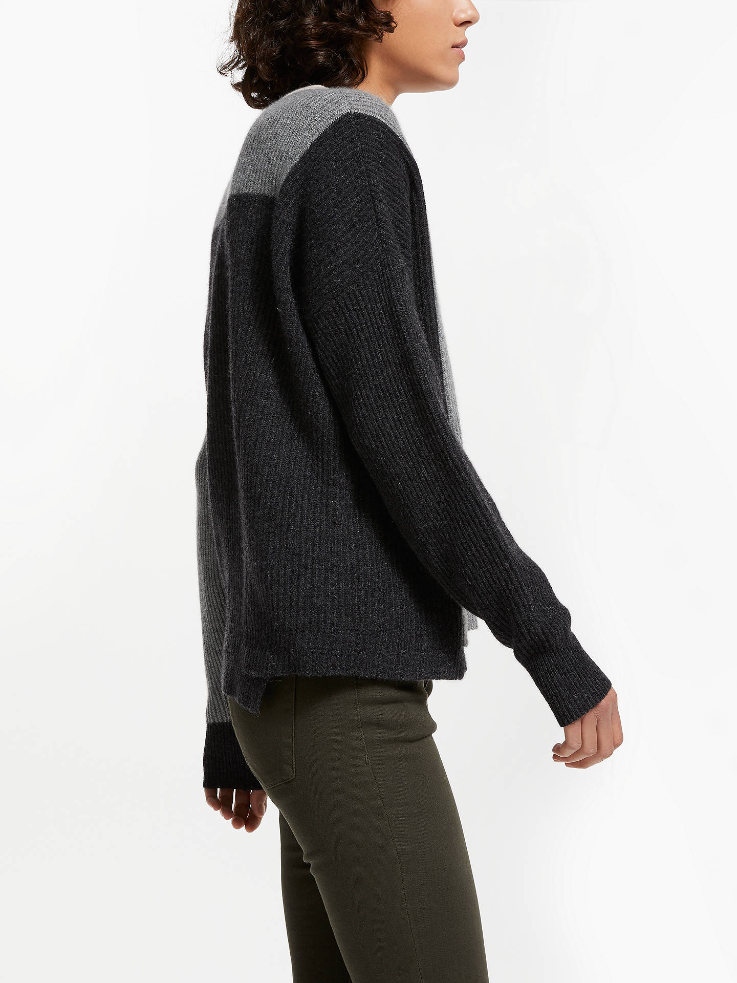 Buy360 Sweater Akima Ribbed Jumper, Graphite/Heather Grey/Buff, L Online at johnlewis.com