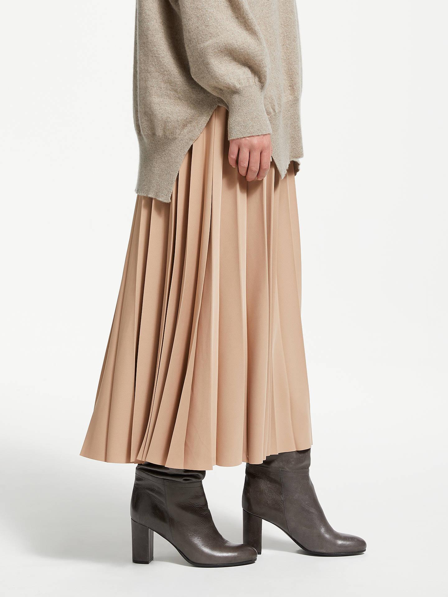 c0337429c Buy Modern Rarity Sunray Pleated Midi Skirt, Camel, 18 Online at  johnlewis.com ...