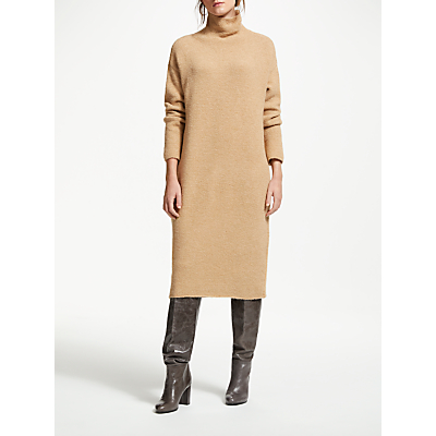Modern Rarity Knitted Roll Neck Dress, Brown