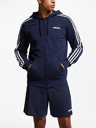 adidas Essentials 3-Stripes Hoodie, Navy