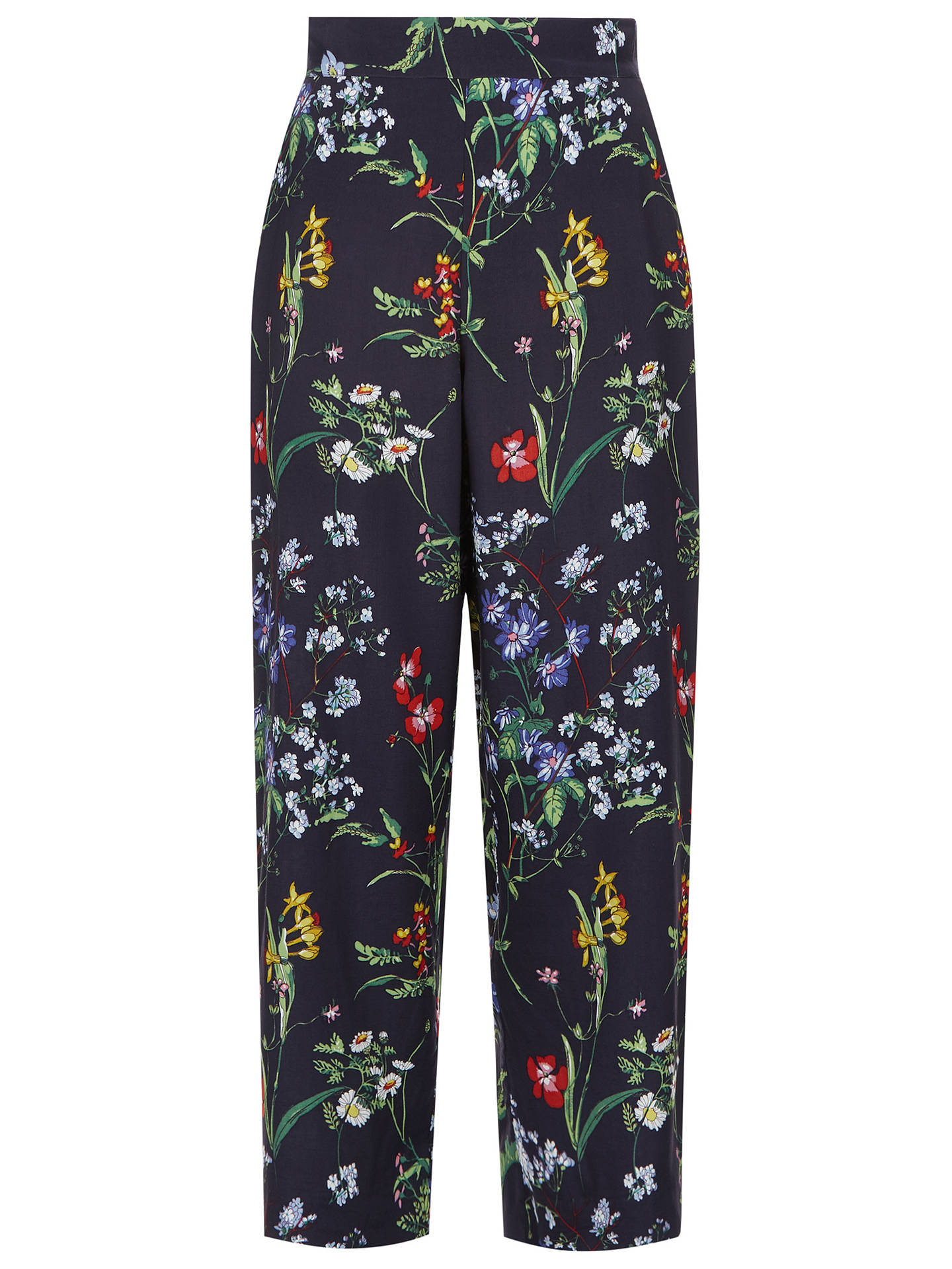 BuyHobbs Marianne Trousers, Blue Multi, 10 Online at johnlewis.com