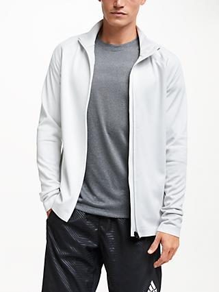adidas PHX Water Repellent Track Jacket, White/Grey One