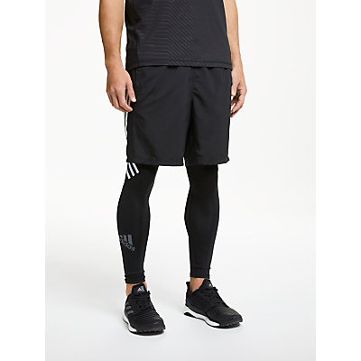 Image of adidas Alphaskin Sport+ Long 3-Stripes Tights, Black
