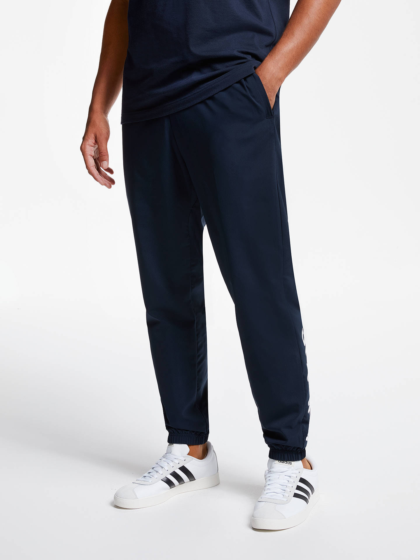 adidas Essential Linear Stanford Tracksuit Bottoms at John Lewis ... 4d362493d5b7