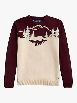 Joules Christmas Fox Jumper, Multi