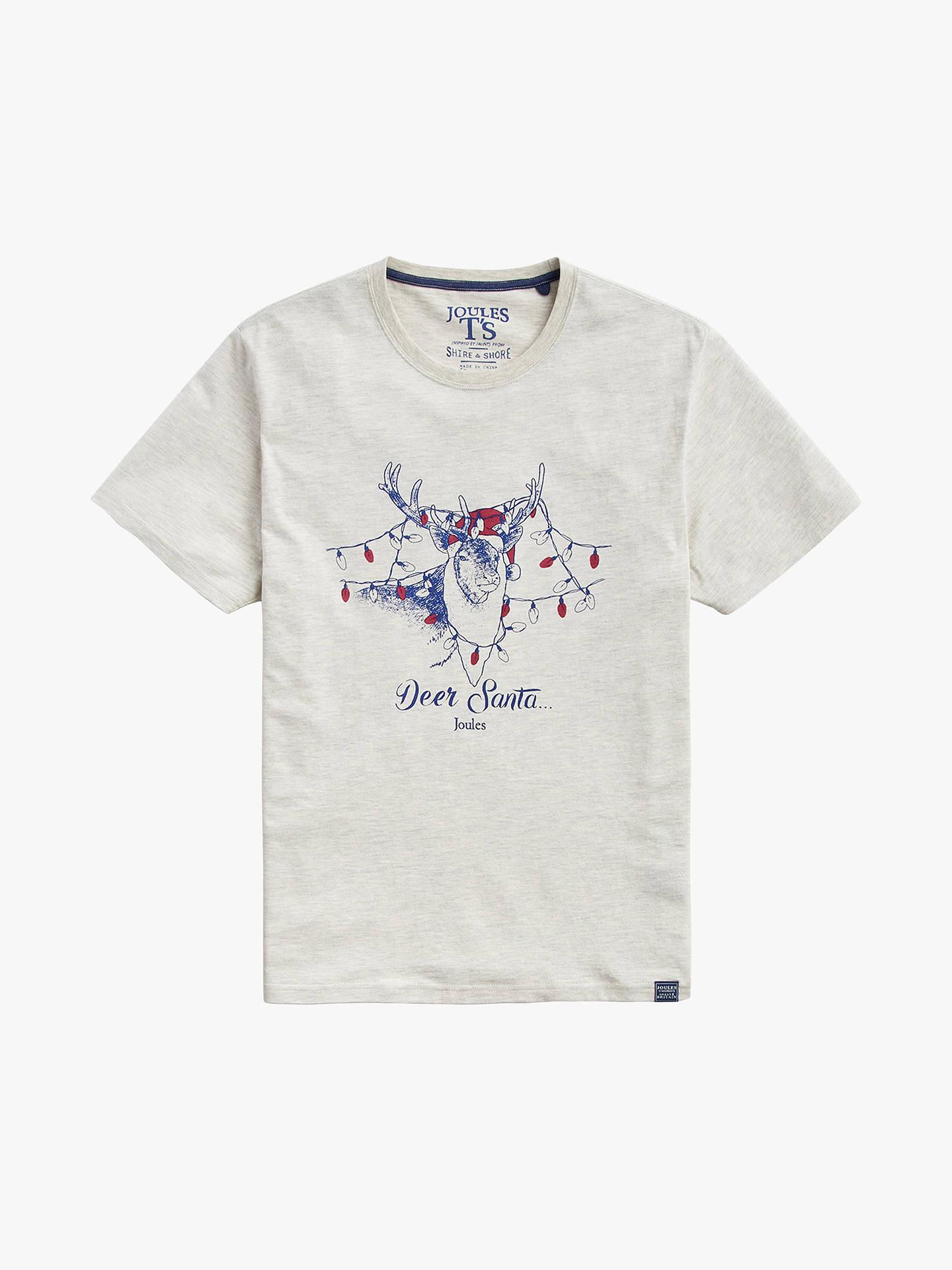 2b41636ea5068 Buy Joules Deer Santa Christmas T-Shirt
