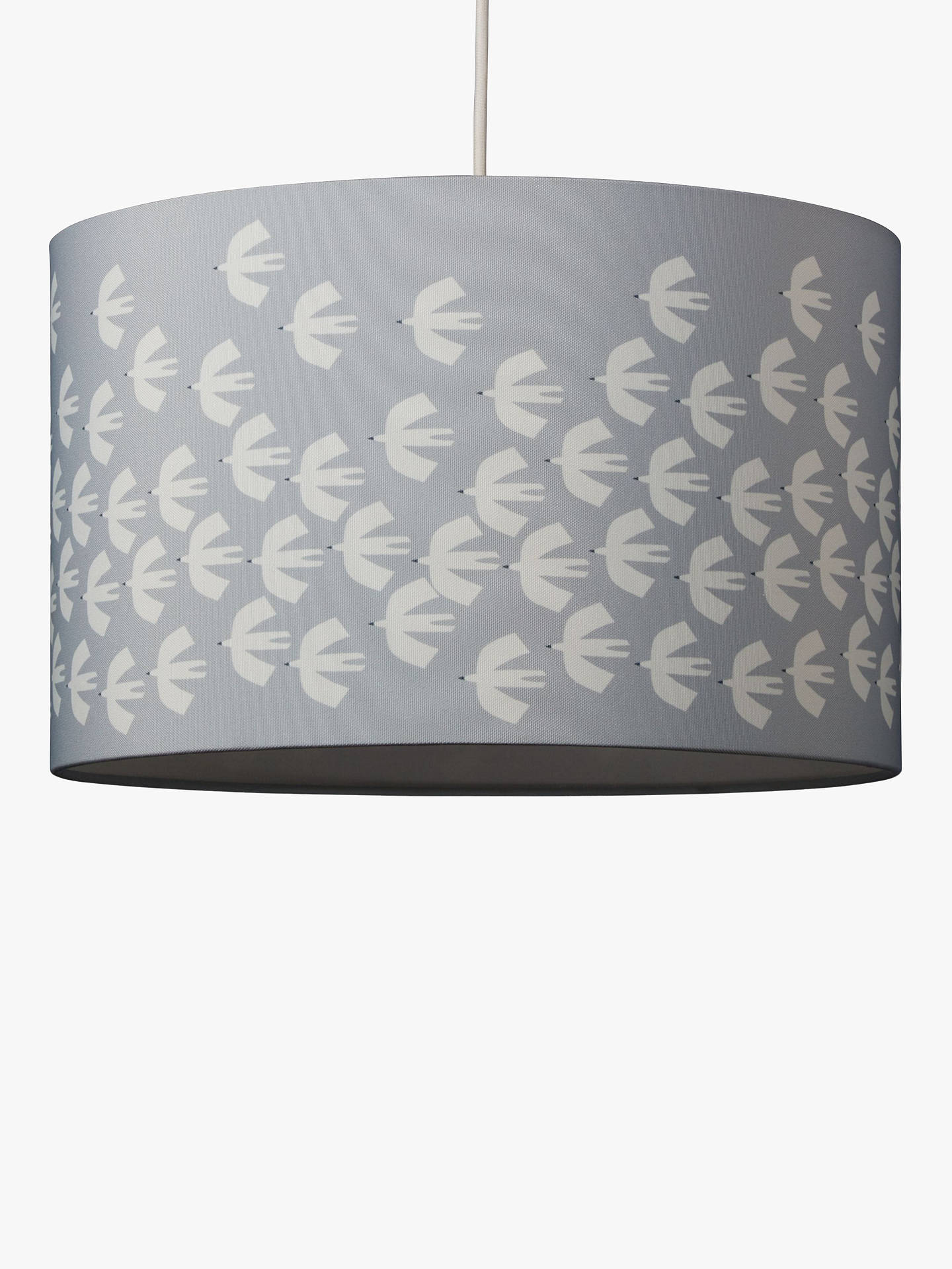 BuyScion Pajaro Lampshade, Grey/White, Dia.30cm Online at johnlewis.com