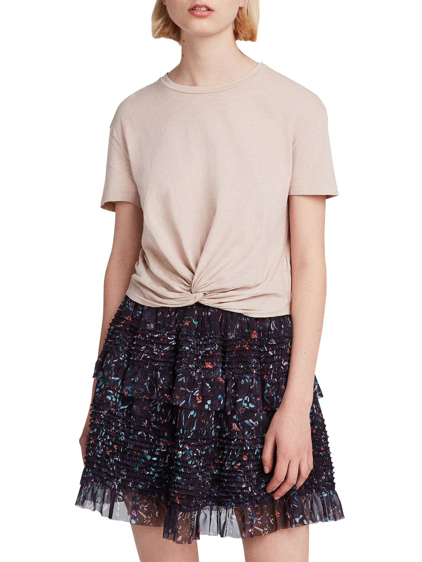 Allsaints Sanse June Mini Skirt Blackmulti At John Lewis Partners