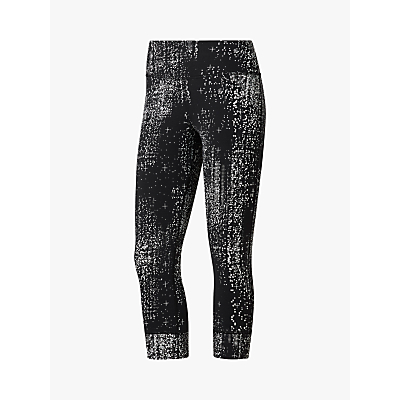 Image of Reebok Lux Cropped Data Dots Training Tights, Black