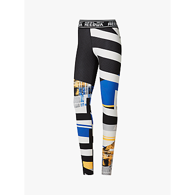 Image of Reebok Meet You There Engineered Tights, Crushed Cobalt
