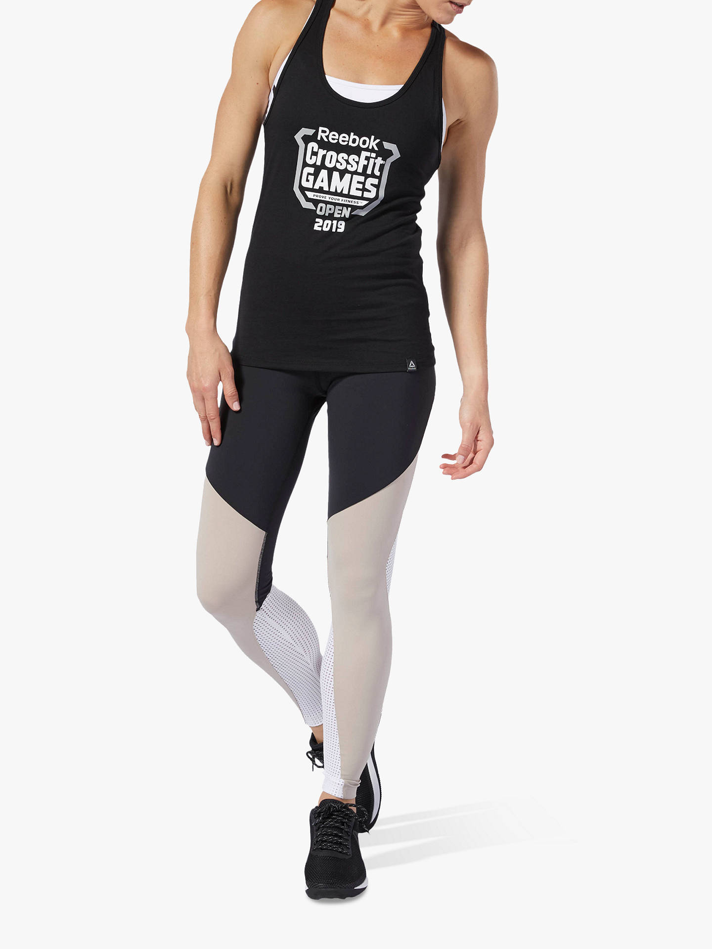 1263fe1af1 Buy Reebok Lux Colour Block Training Tights, Black, XS Online at  johnlewis.com ...
