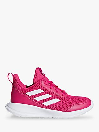 adidas Children's AltaRun Lace Up Sports Trainers, Pink