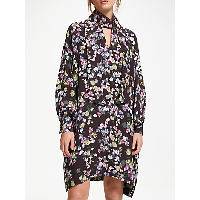 Modern Rarity Confetti Floral Dress, Blackcurrant