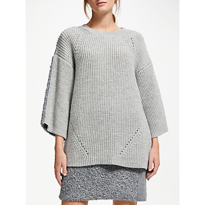Modern Rarity J. JS Lee Boucle Knit Jumper, Mid Grey