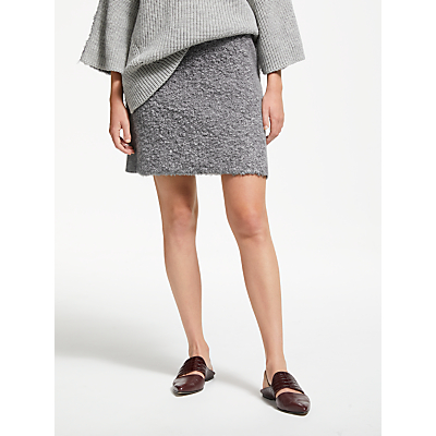 Modern Rarity J. JS Lee Boucle Skirt, Grey