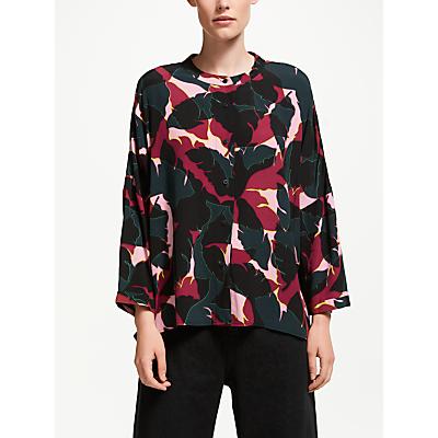 Kin Kamoe Leaf Print Oversized Shirt, Multi
