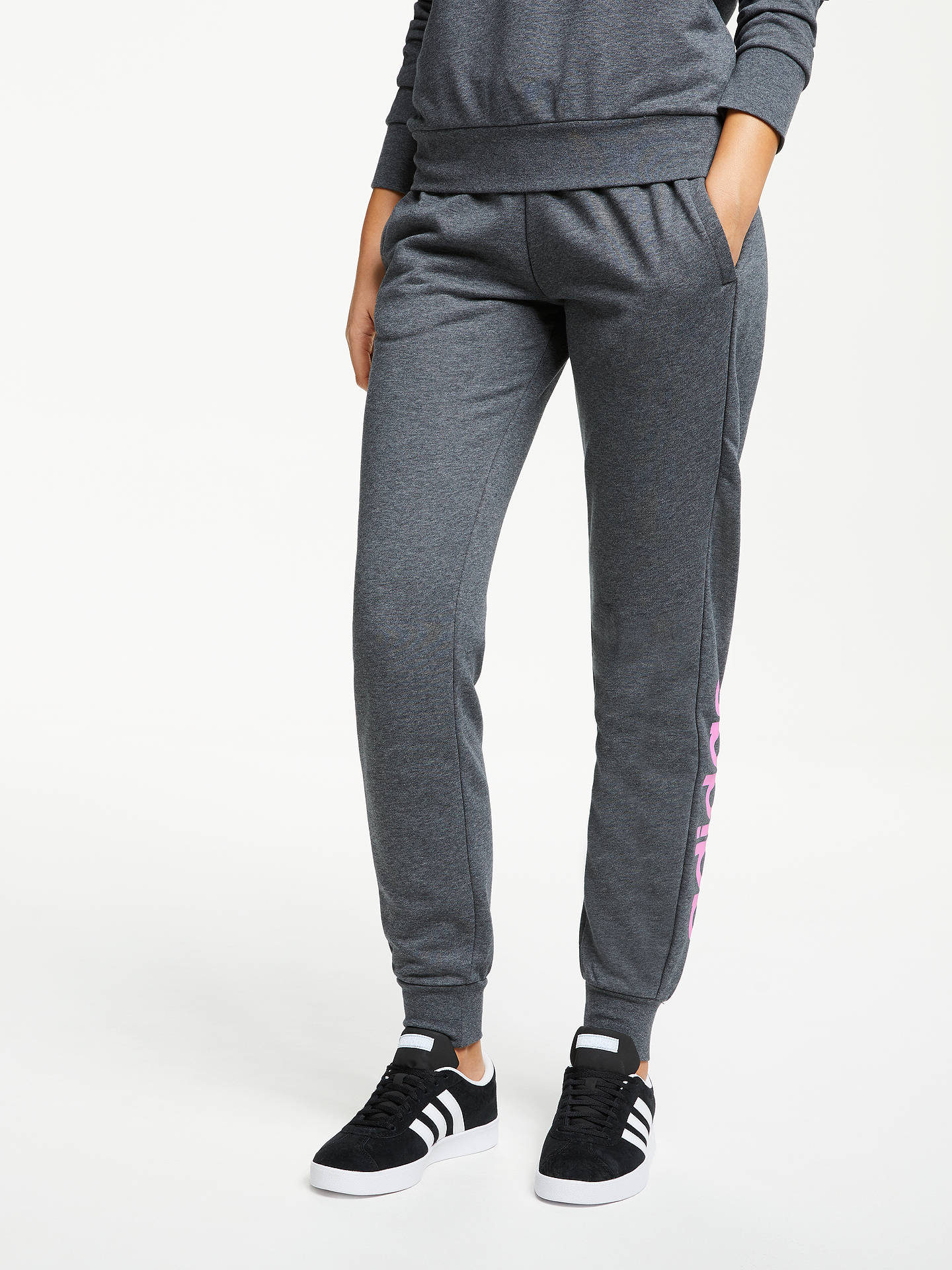 fd7c02a788e adidas Essentials Linear Tracksuit Bottoms at John Lewis   Partners