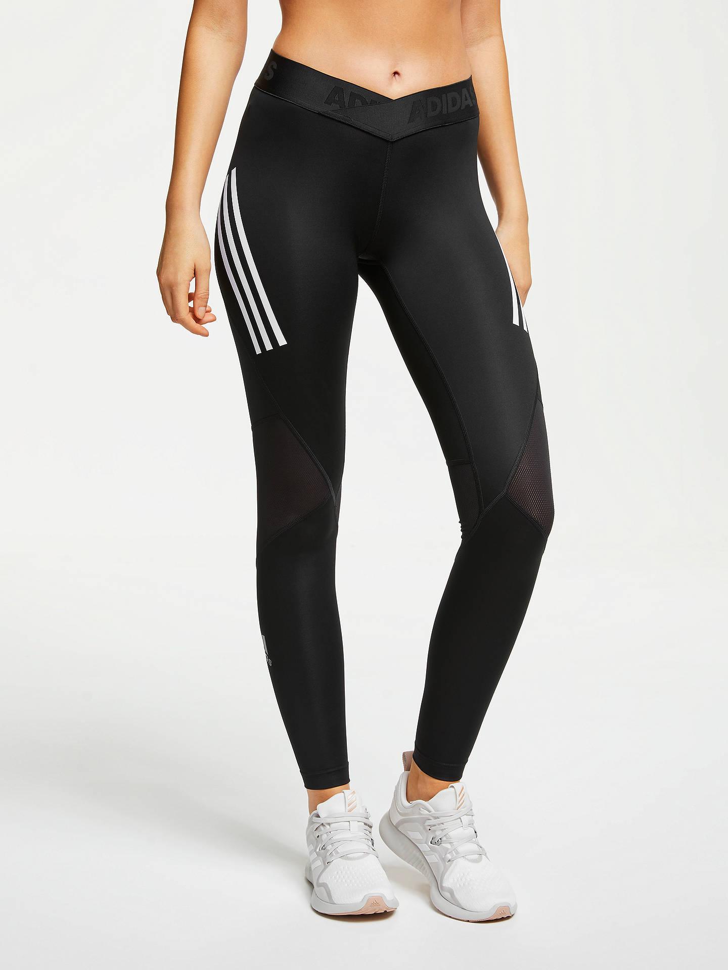 6ca907b8841a7 Buy adidas Alphaskin Sport 3-Stripes Long Training Tights, Black, M Online  at ...