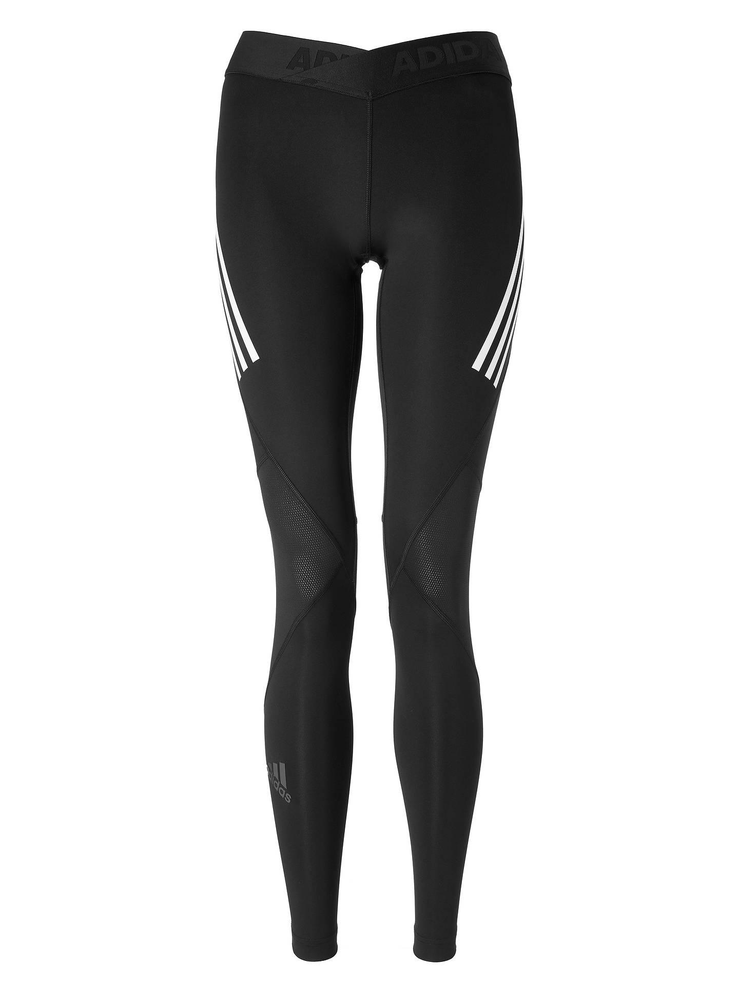 55495116e6f5b ... Buy adidas Alphaskin Sport 3-Stripes Long Training Tights, Black, M  Online at ...