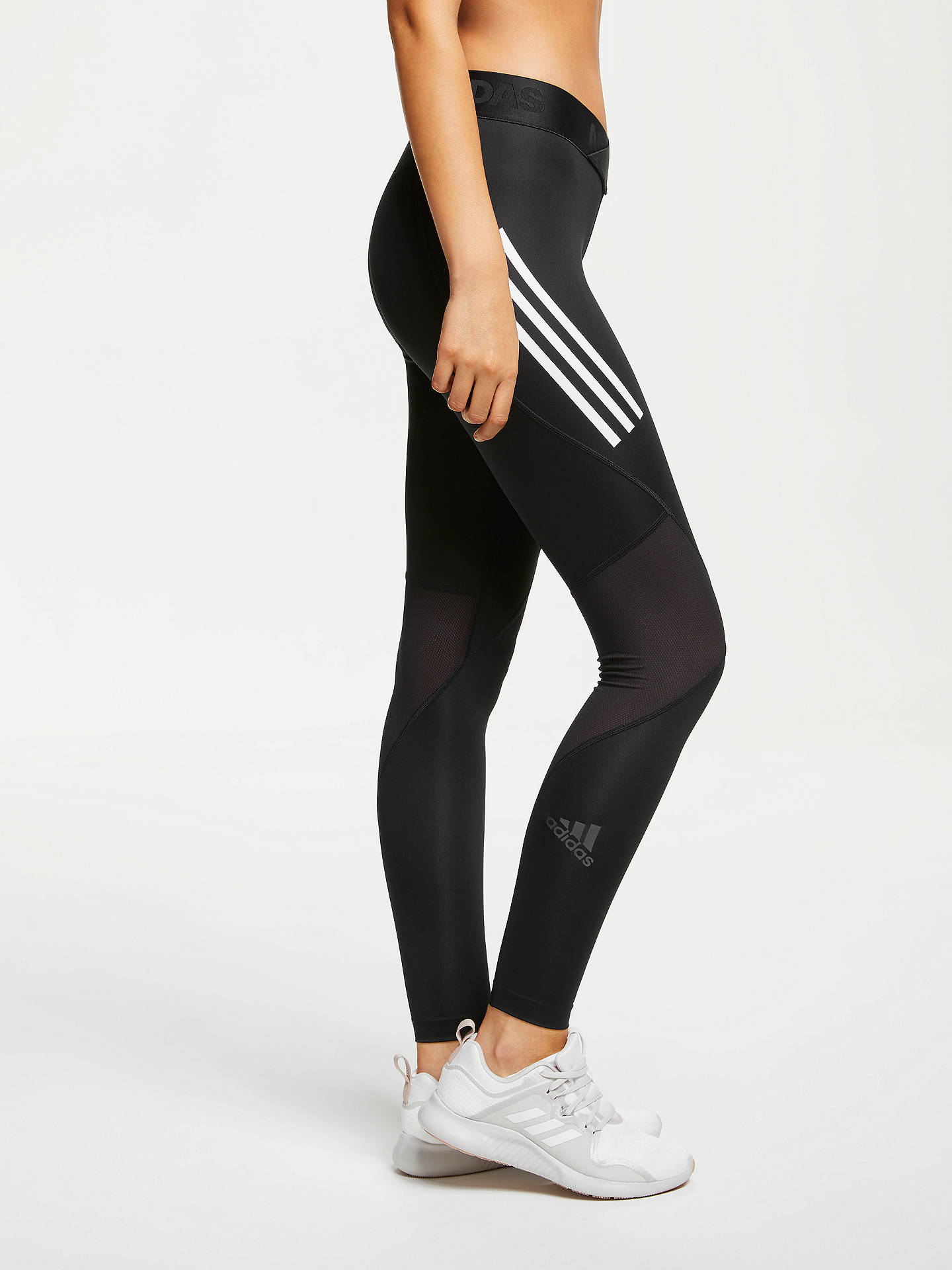 009e3686656ce ... Buy adidas Alphaskin Sport 3-Stripes Long Training Tights, Black, M  Online at
