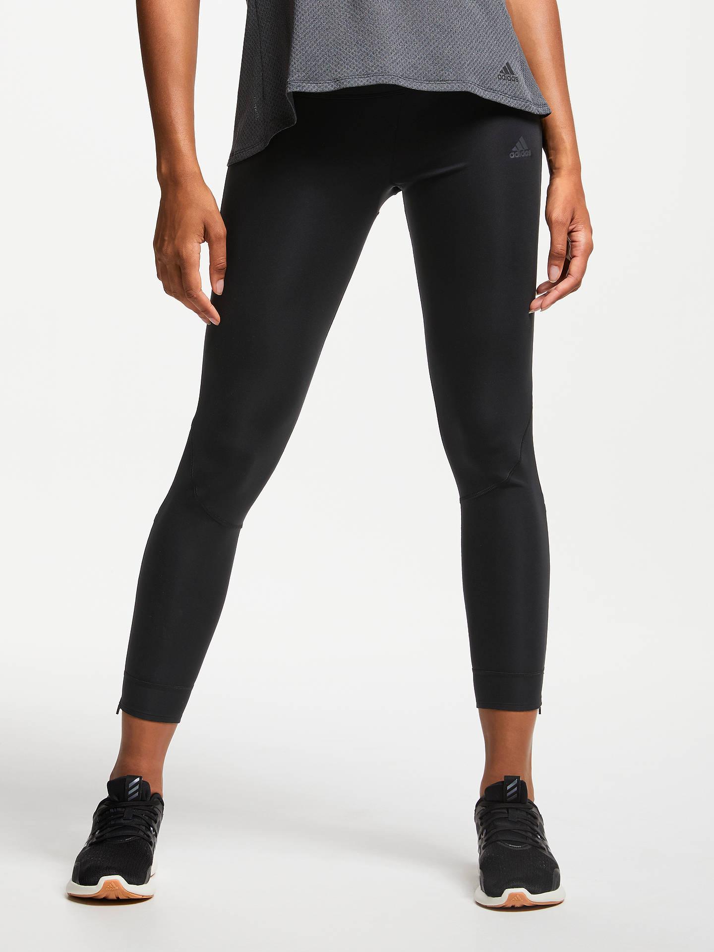 Edad adulta motivo buscar  adidas Own The Run Long Running Tights, Black at John Lewis & Partners