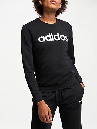 adidas Essentials Linear Crew Neck Sweatshirt