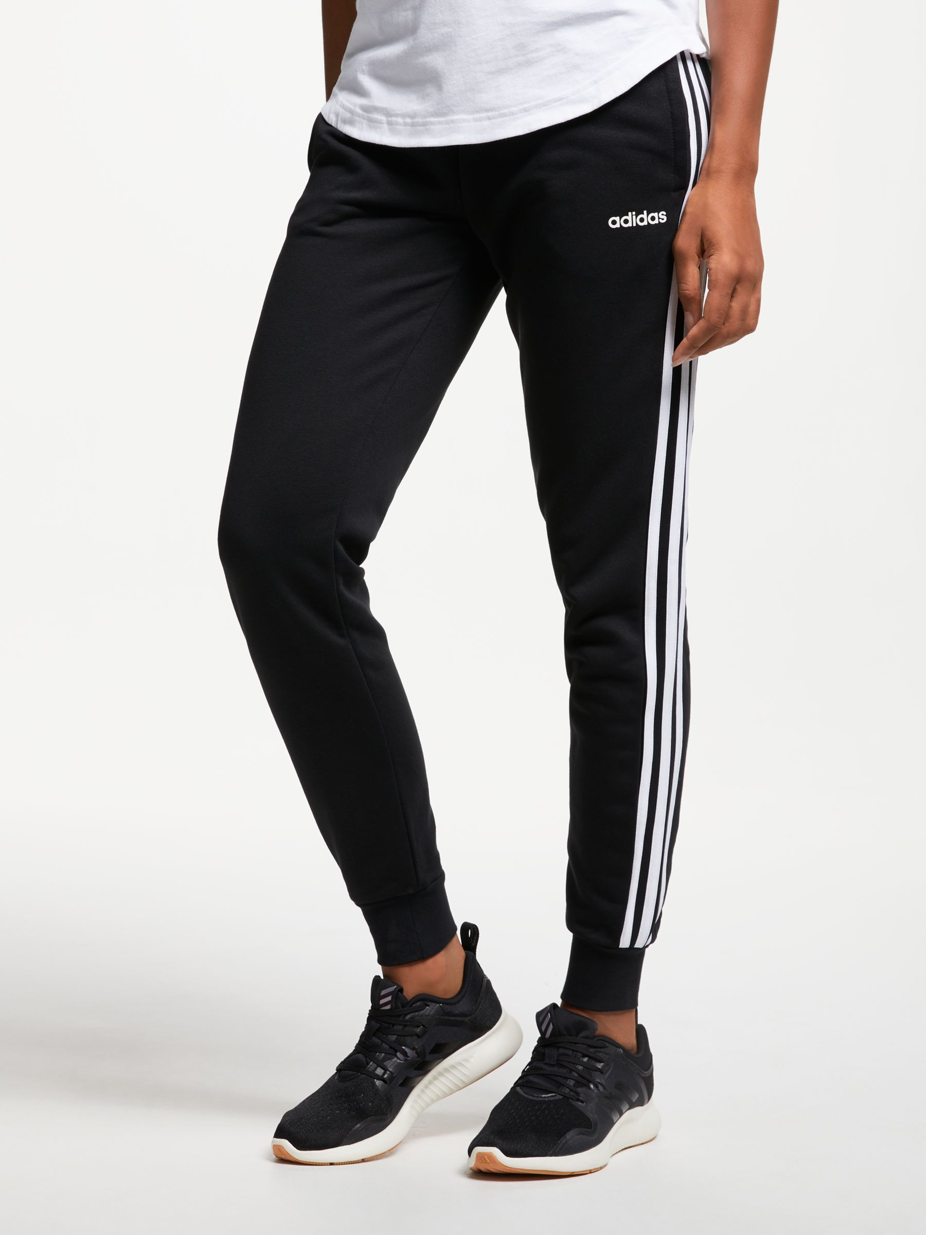 Adidas adidas Essentials 3-Stripes Tracksuit Bottoms, Black