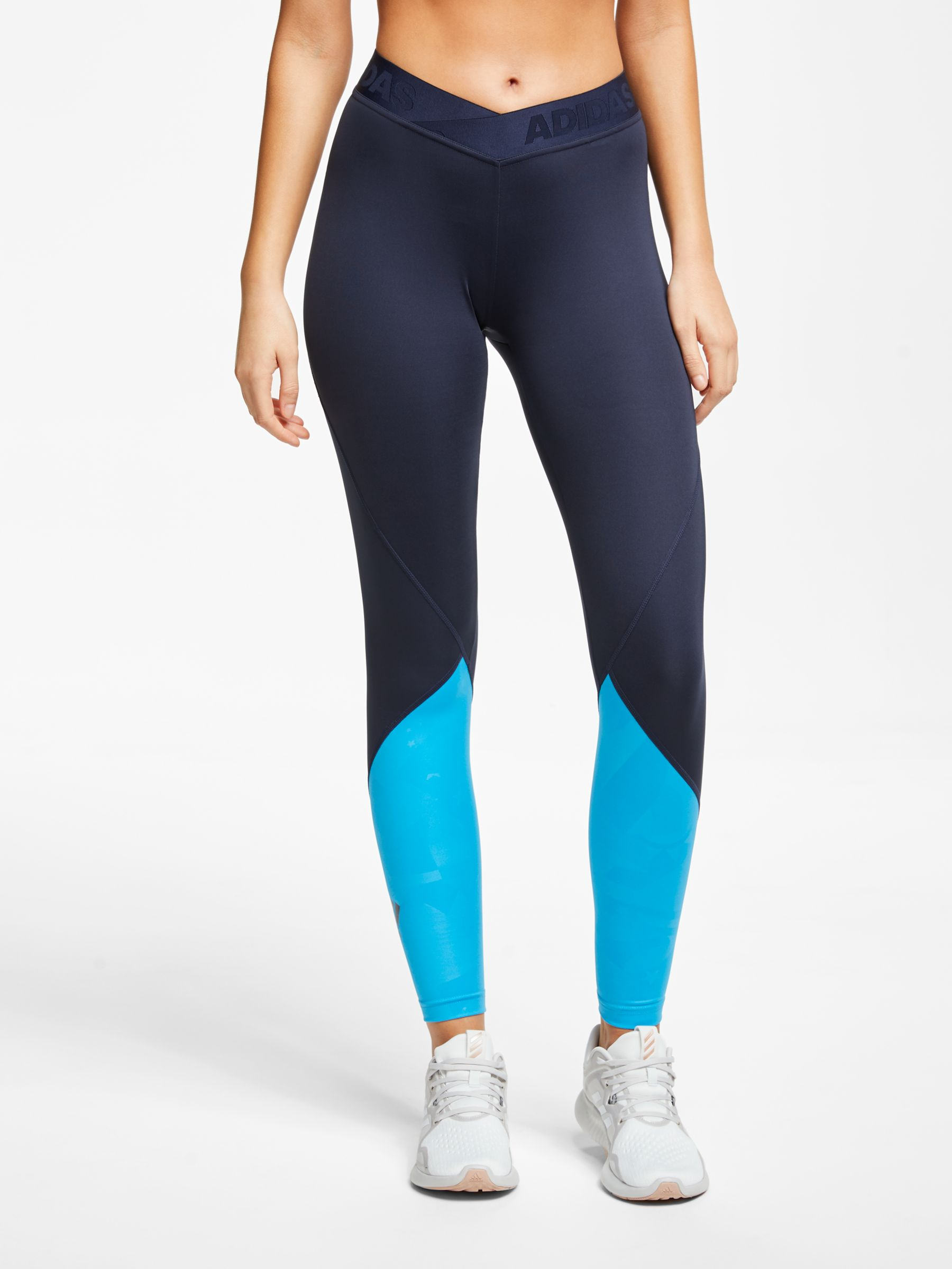 e04be3e3107 adidas Alphaskin 2.0 Embossed 7/8 Training Tights, Legend Ink at John Lewis  & Partners