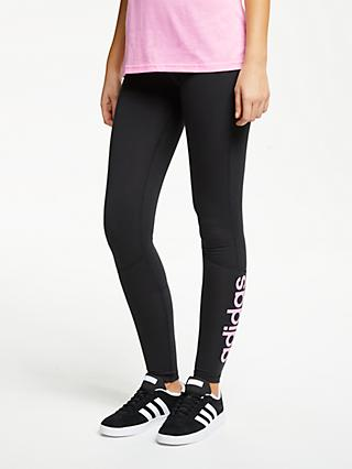 05b51e020808d adidas Designed 2 Move High Rise Long Training Tights, Black/True Pink