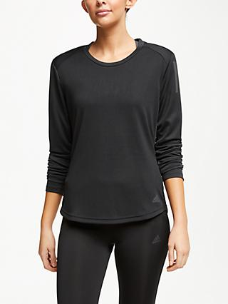adidas Own The Run Long Sleeve Running Top, Black