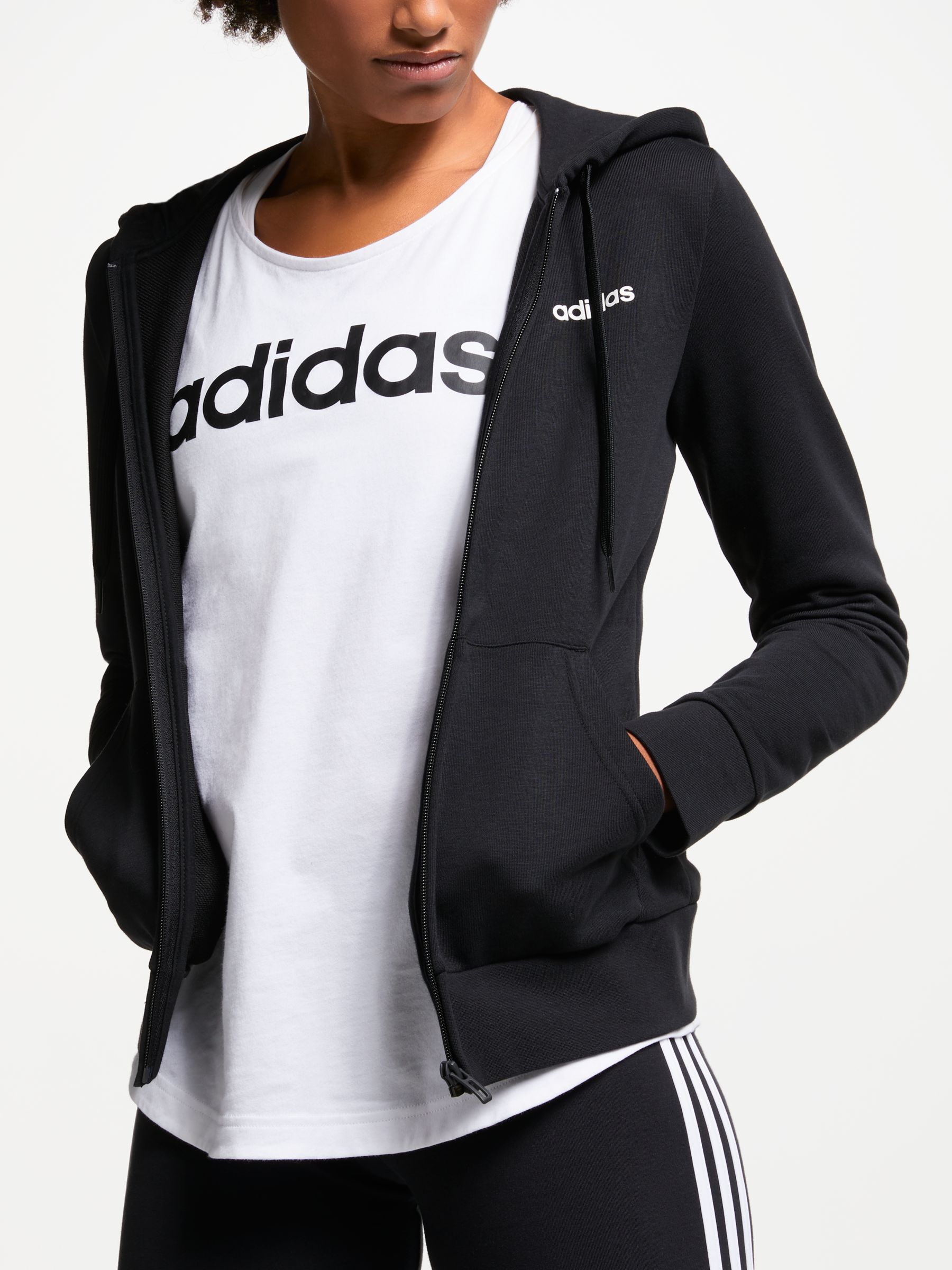 Adidas adidas Essentials Solid Full Zip Training Hoodie, Black