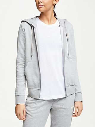 adidas Essentials Solid Full Zip Hoodie, Grey Heather