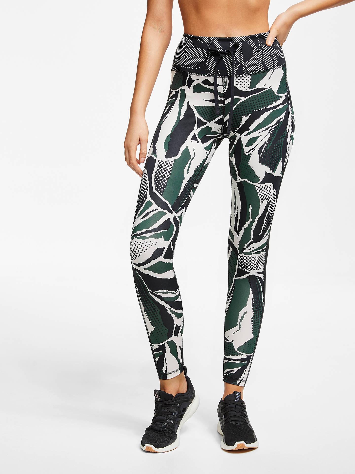 f4a46becc0b68 Buy adidas Floral Paper Print 7/8 Training Tights, Black/Green/White ...