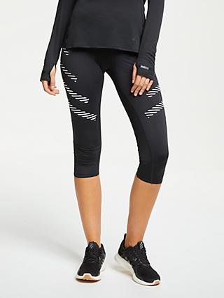 adidas How We Do 3/4 Running Tights, Black/White