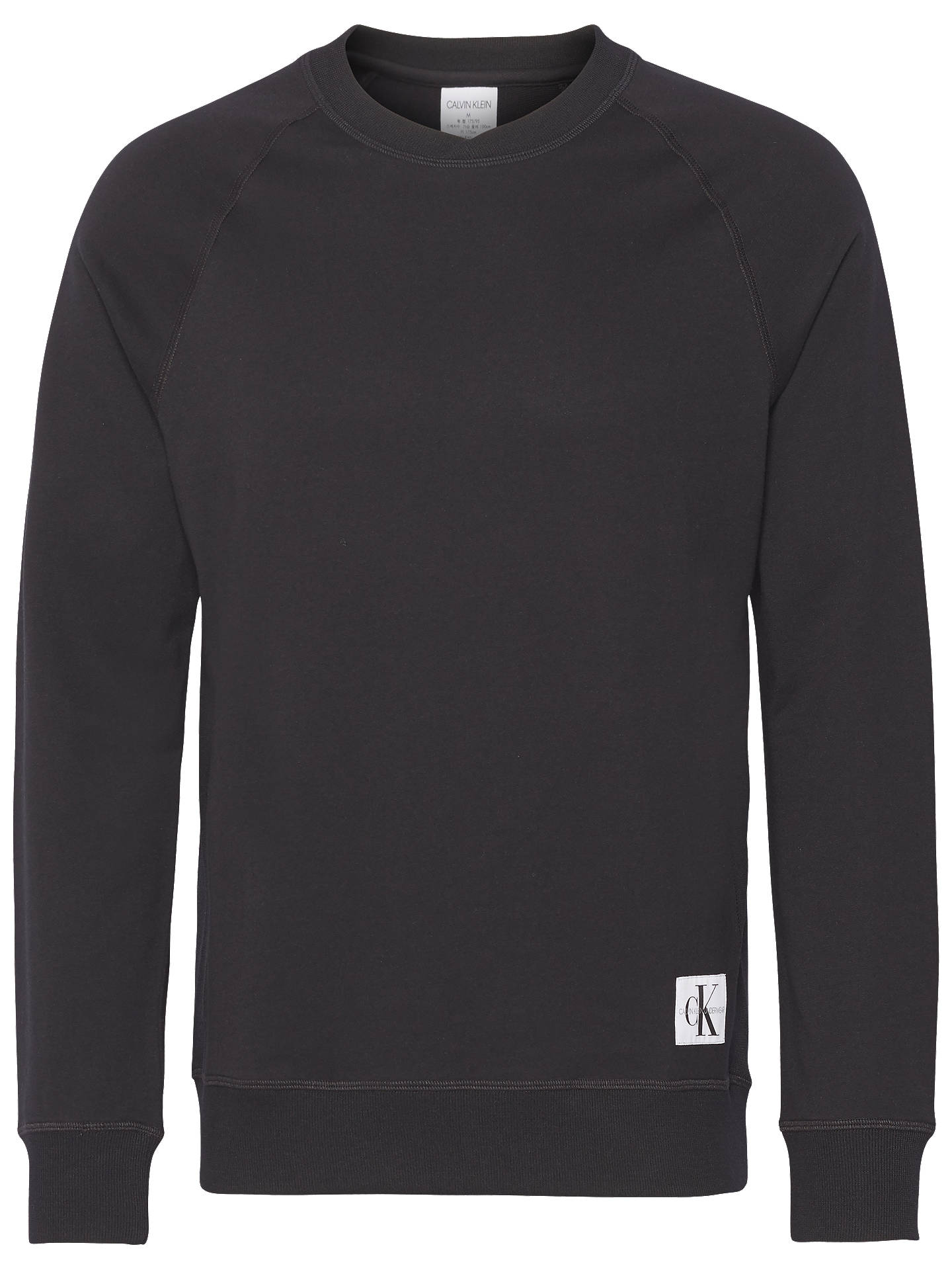 Buy Calvin Klein Lounge Sweatshirt, Black, XL Online at johnlewis.com