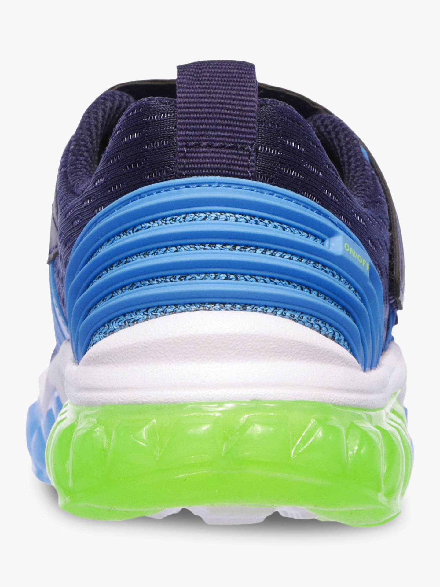 Buy Skechers Children's S Lights Rapid Flash Trainers, Blue, 34 Online at johnlewis.com