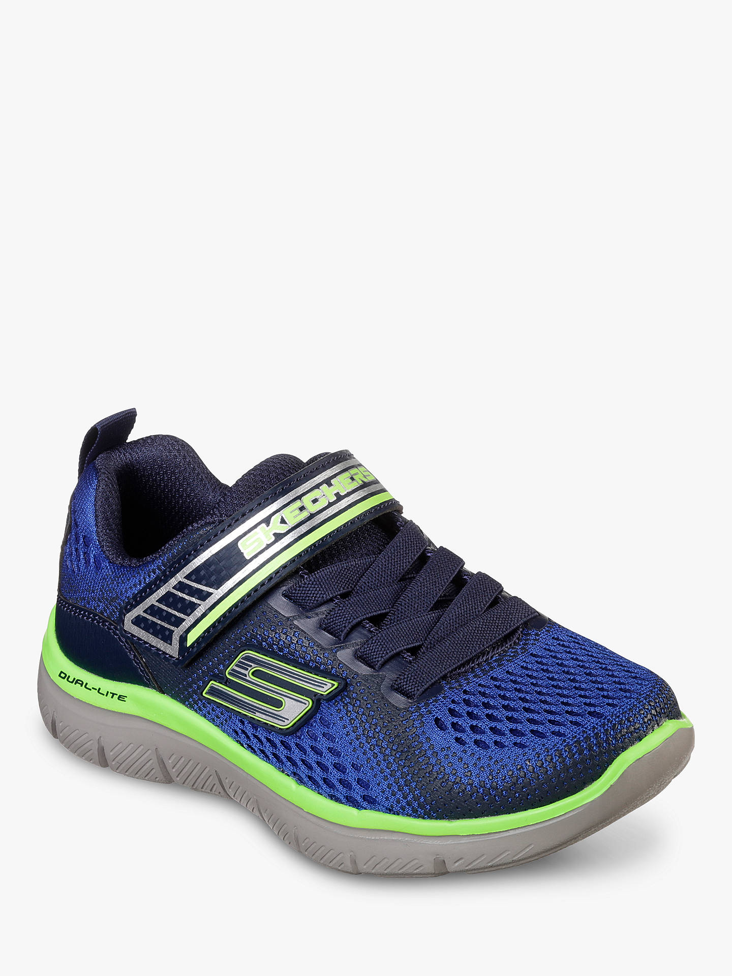 e6ad0e914b290 Buy Skechers Children's Flex Advantage 2.0 Geo Blast Trainers, Blue, 34  Online at johnlewis ...
